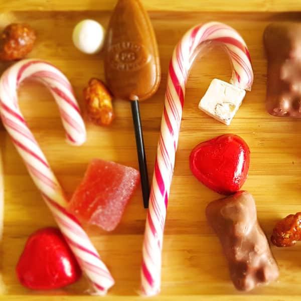 Bar à bonbons de noel