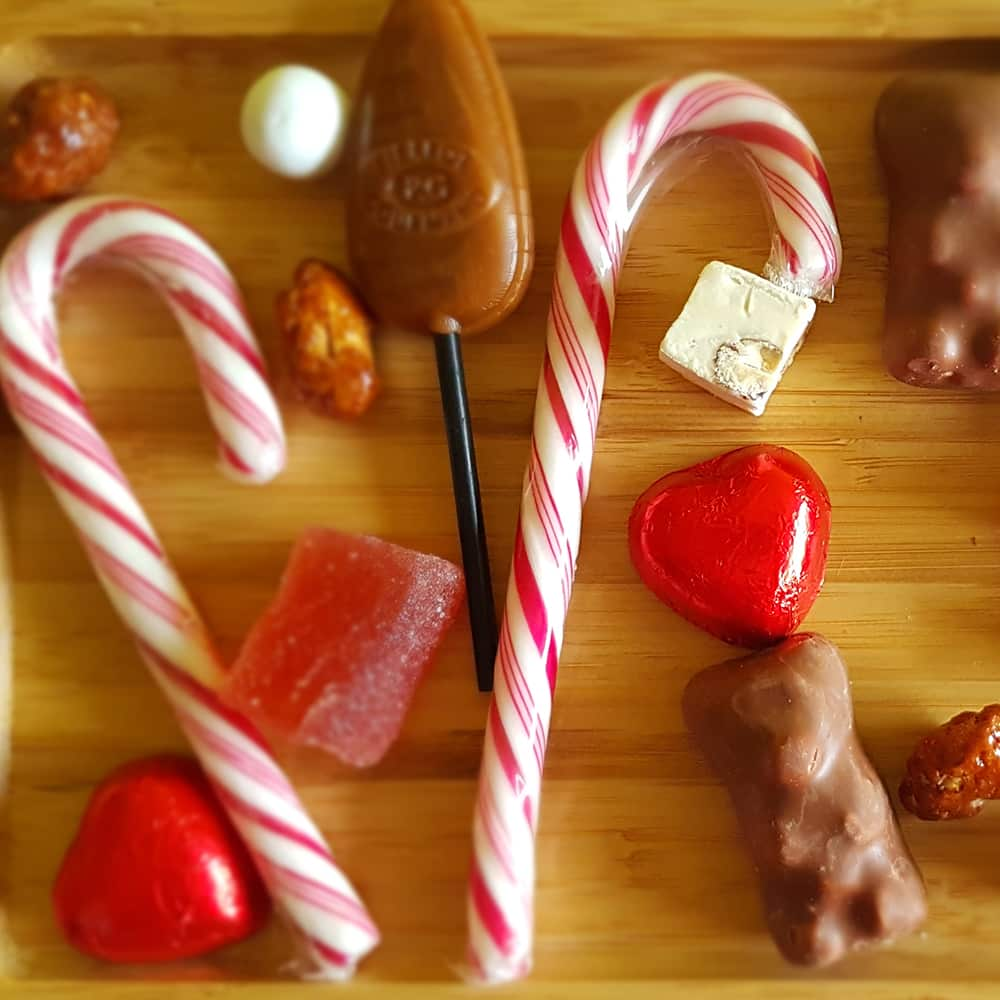 candy bar de noel