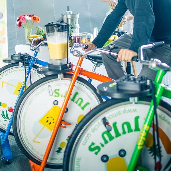 vélo à jus et smoothies