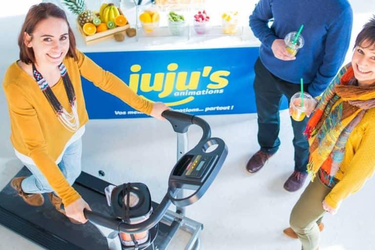 Animations sportives Cyclo Rameur Smoothies et Jus de fruits en entreprise pour redynamiser vos collaborateurs